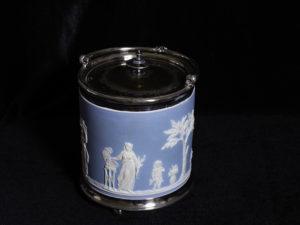 Art Leisenring's blue cracker jar