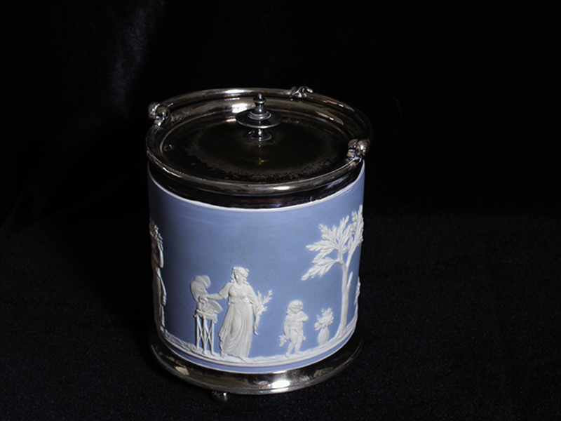 Art Leisenring's blue cracker jar
