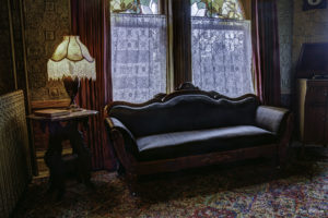 Brown's horsehair sofa