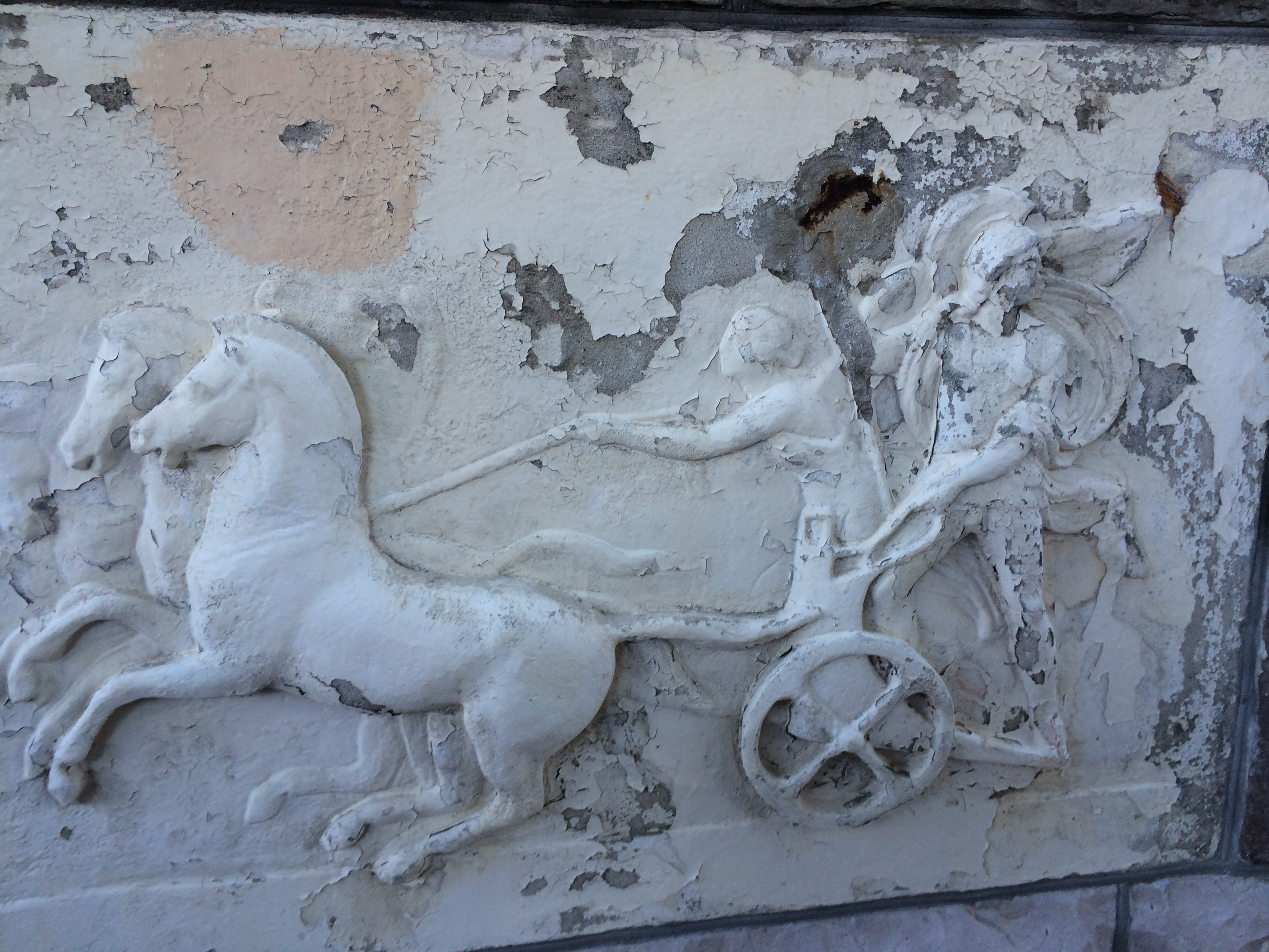 Frieze before restoration