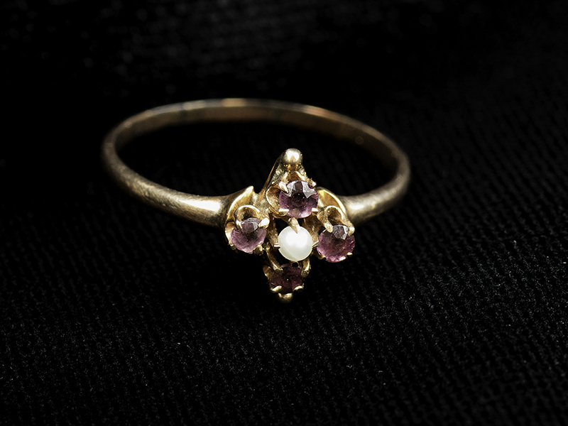 Margret Brown's pearl ring
