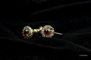 Margaret Brown's ruby earrings
