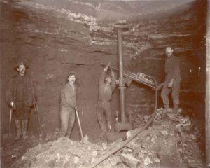 Miners drilling circa 1890