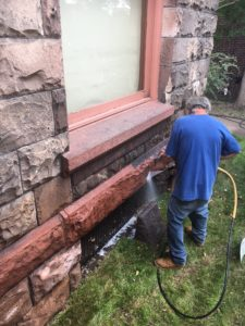 BRS Conducting Masonry Cleaning