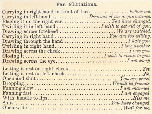 Fan Flirtation Guide