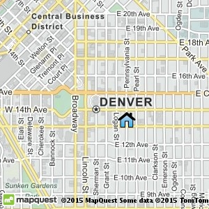 Denver map showing Molly Brown House Museum location