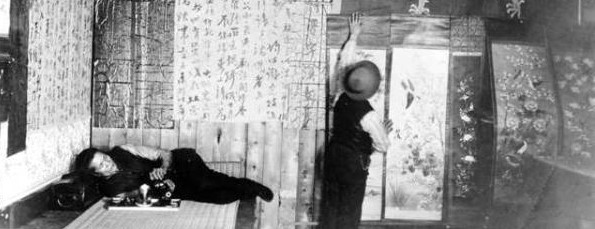 Hop Alley Decorating for Chinese New Year c1910