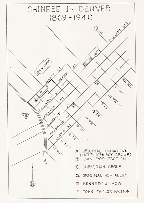 Map of Denver's Chinatown, circa 1880