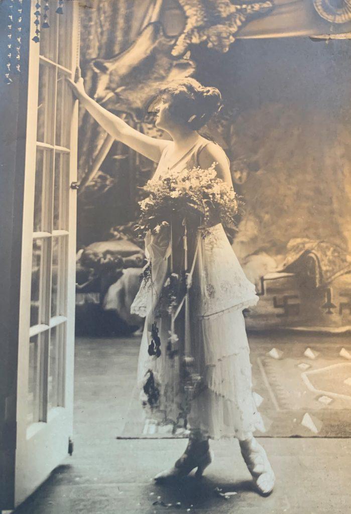 Helen Tobin in her Aunt's Newport home.