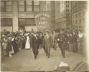 The Men's League for Women's Suffrage marching in 1915