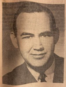 Photograph of Judge Rubin from a yellowed newspaper.