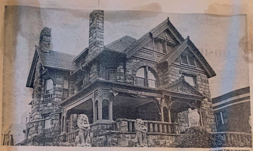 Photograph of the Molly Brown House, circa 1967